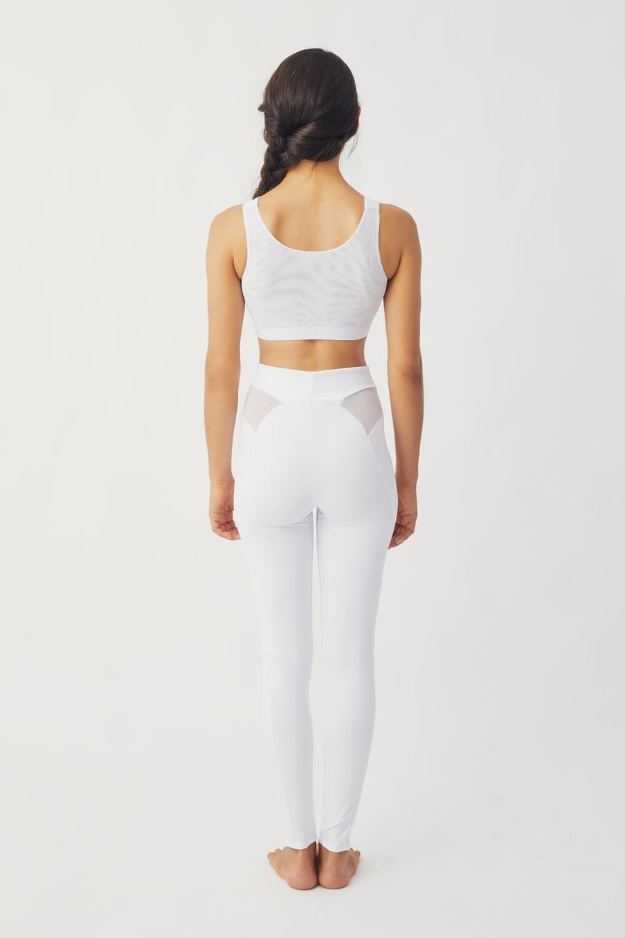 Neve Recycled Lycra Active Bra in White