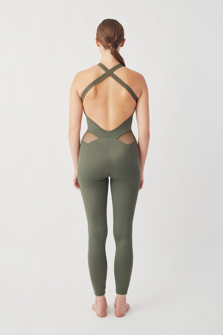 Recycled Lycra All in One in Green