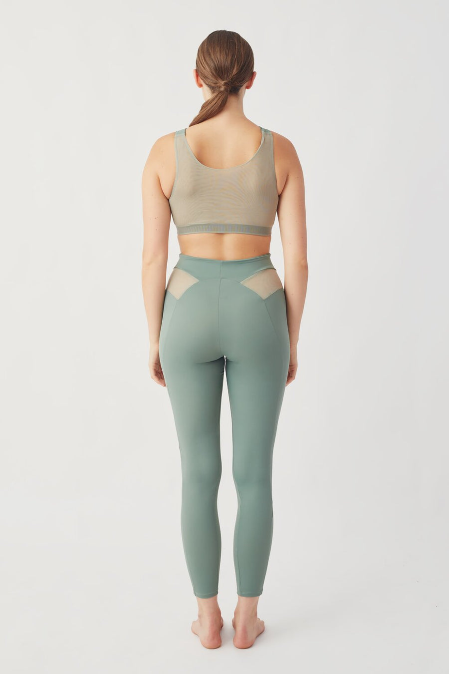 Recycled Lycra Active Bra in Green