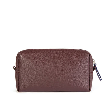 Vegan Leather Toiletries Bag in Burgundy