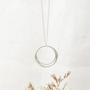 Wrapped Silver Circled Necklace