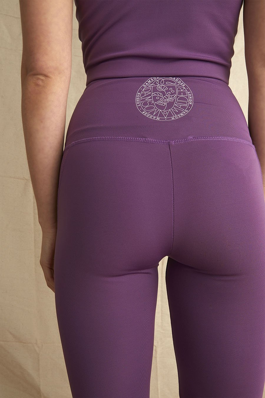 Recycled Polyester Active Leggings in Plum