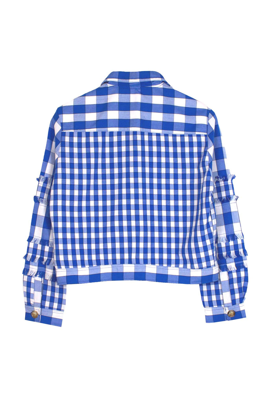 Blue Gingham Cotton Jacket