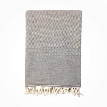 Ekin Cotton & Wool Blend Vintage Style Blanket