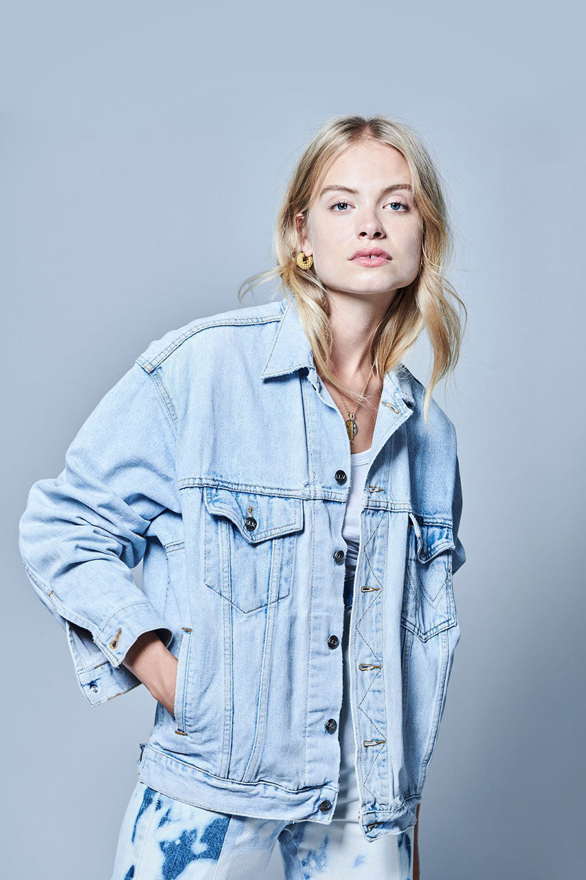 Light Blue Match Denim Jacket