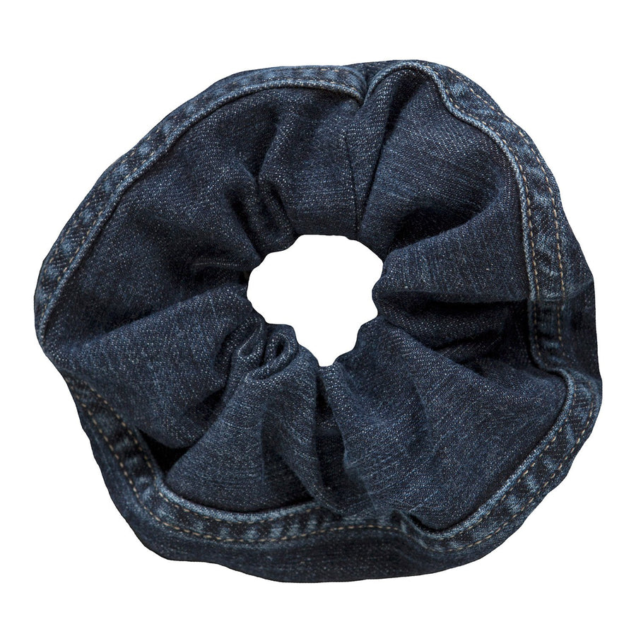Black Denim Hair Scrunchie