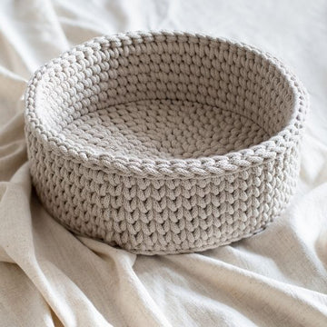 Hand-Crocheted Basket