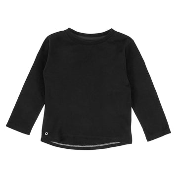 Mighty Long Sleeve Organic Cotton Top in Cosmic Black