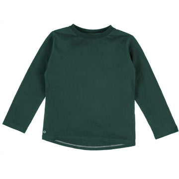 Mighty Long Sleeve Organic Cotton Top in Forest Green