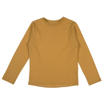 Mighty Long Sleeve Organic Cotton Top in Honey Gold