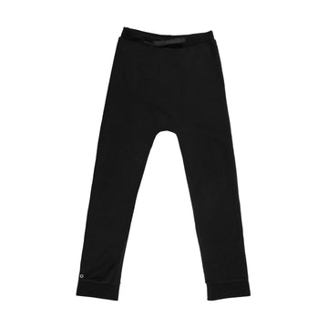 Oh-So-Easy Organic Cotton Casual Trousers in Cosmic Black