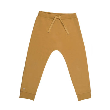 Oh-So-Easy Organic Cotton Casual Trousers in Honey Gold