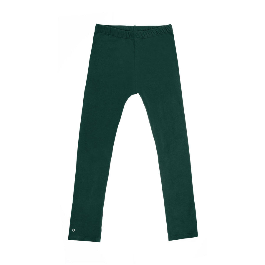 Play-All-Day Organic Cotton Leggings in Forest Green