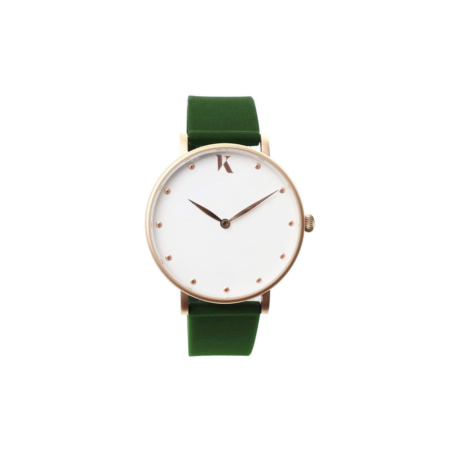 Vegan Emerald Green 38mm Face Watch