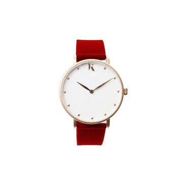 Vegan Ruby Red 38mm Face Watch