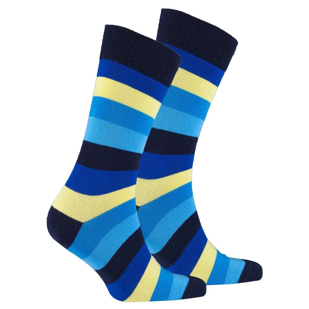 Men's Bluebird Stripe Socks