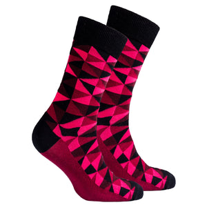 Men's Scarlet Triangles Socks