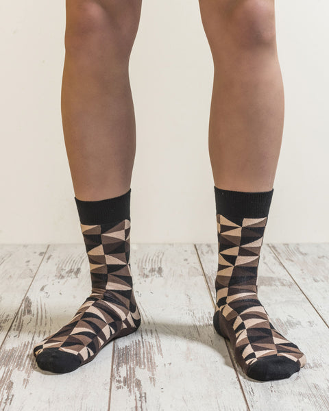 Men's Mocha Triangles Socks