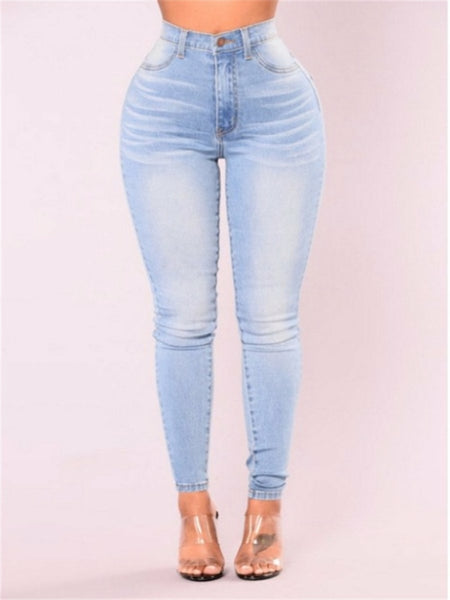 Pack hip pencil jeans blue large size