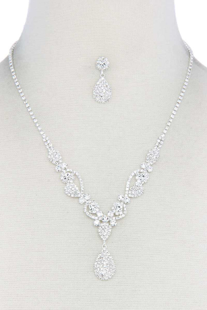 Rhinestone Teardrop Shape Necklace