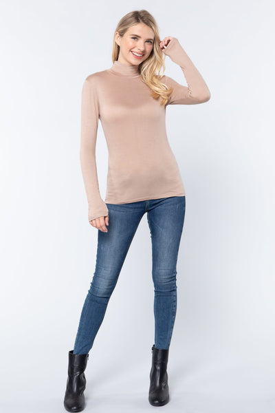 Turtle Neck Rayon Jersey Top