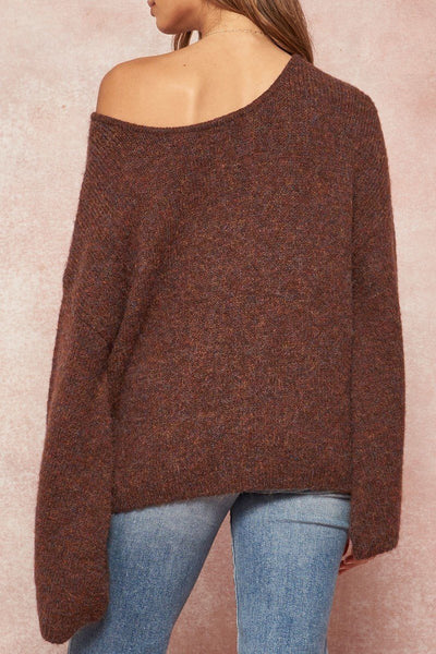A Multicolor Fuzzy Knit Sweater