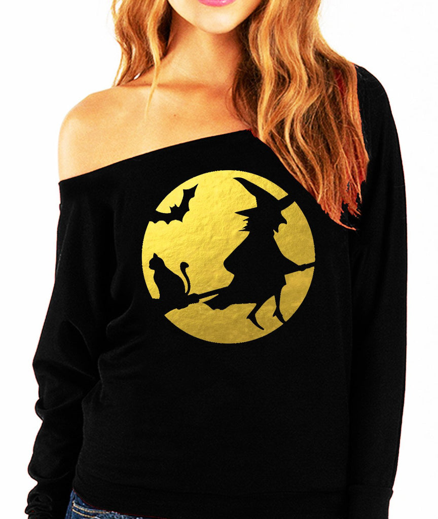 WITCHING HOUR Halloween Slouchy Sweatshirt with