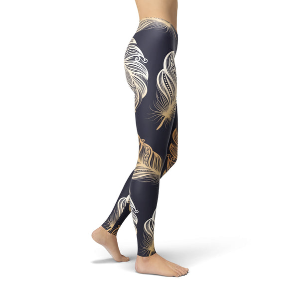Jean Peacock Feathers Leggings