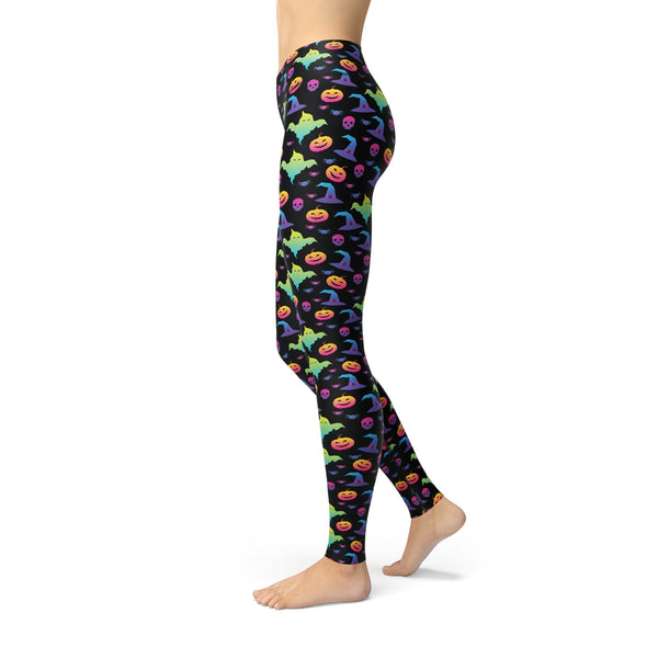 Jean Rainbow Halloween Leggings