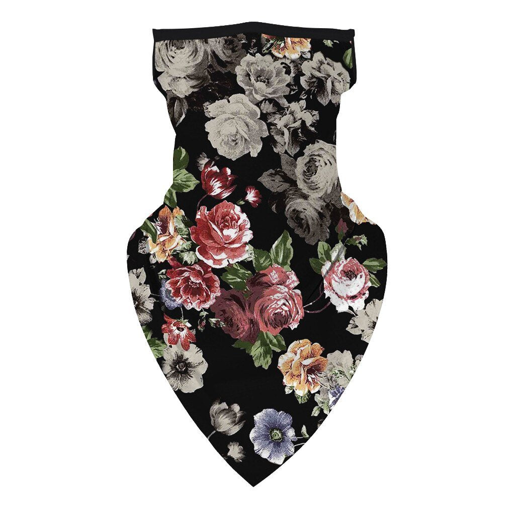 Floral Print Unisex Hiking Scarves Face Cover Scarf Protection Neck