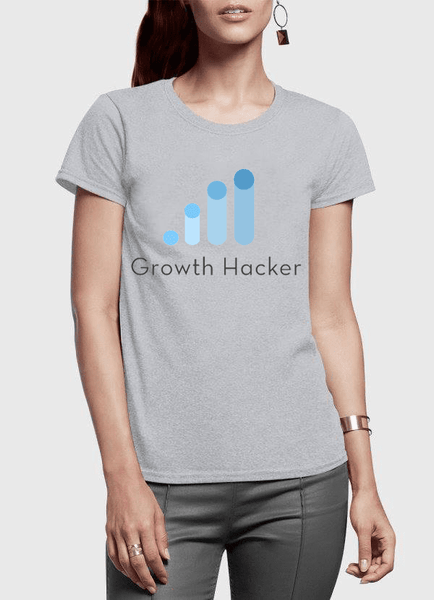 Growth Hacker Half Sleeves Women T-shirt