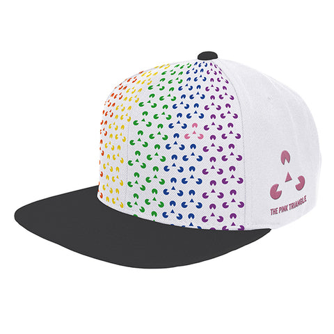 100% acrylic snapback cap with original in house design by The Pink Triangle. LGBTQ+ clothing brand for everyone.