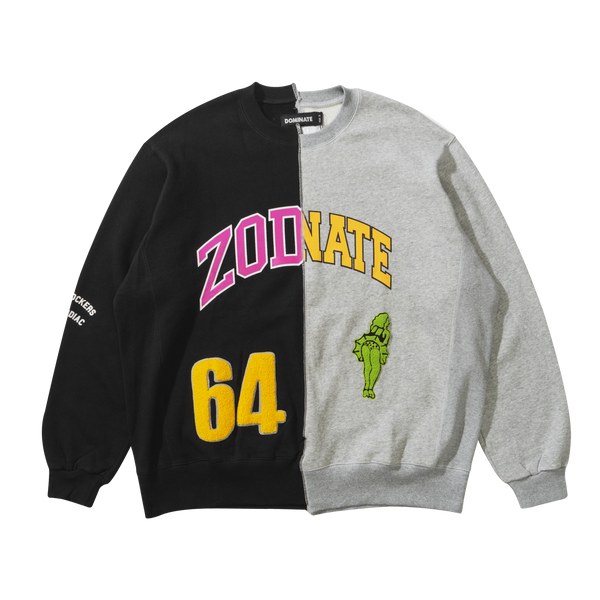 Zodiac x Dominate Mismatch Crewneck