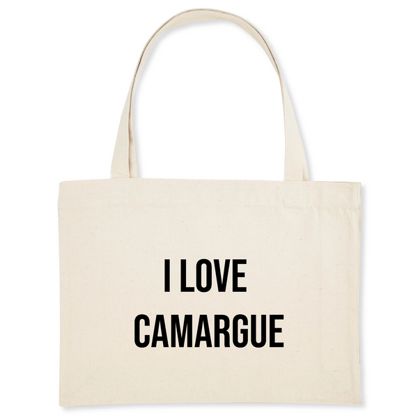 "SAC SHOPPING COTON BIO ""I love Camargue"""