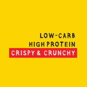 low carb, high protein, Crispy & Crunchy healthy better for you snack.