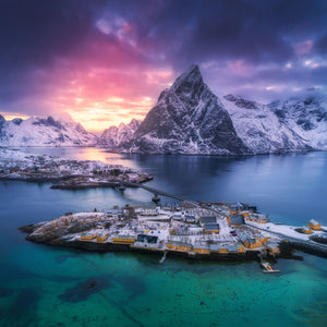 HAMNOY AT SUNSET
