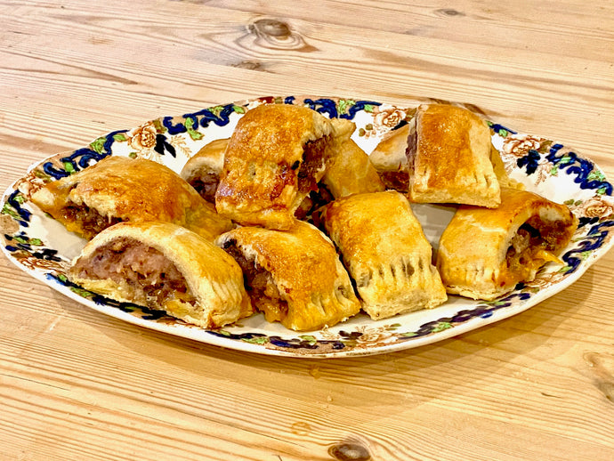 Easy Homemade Port & Blue Cheese Sausage Rolls