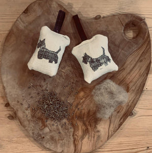 Limited Edition - Handmade Angus from the farm, Scottish Terrier lavender bag.
