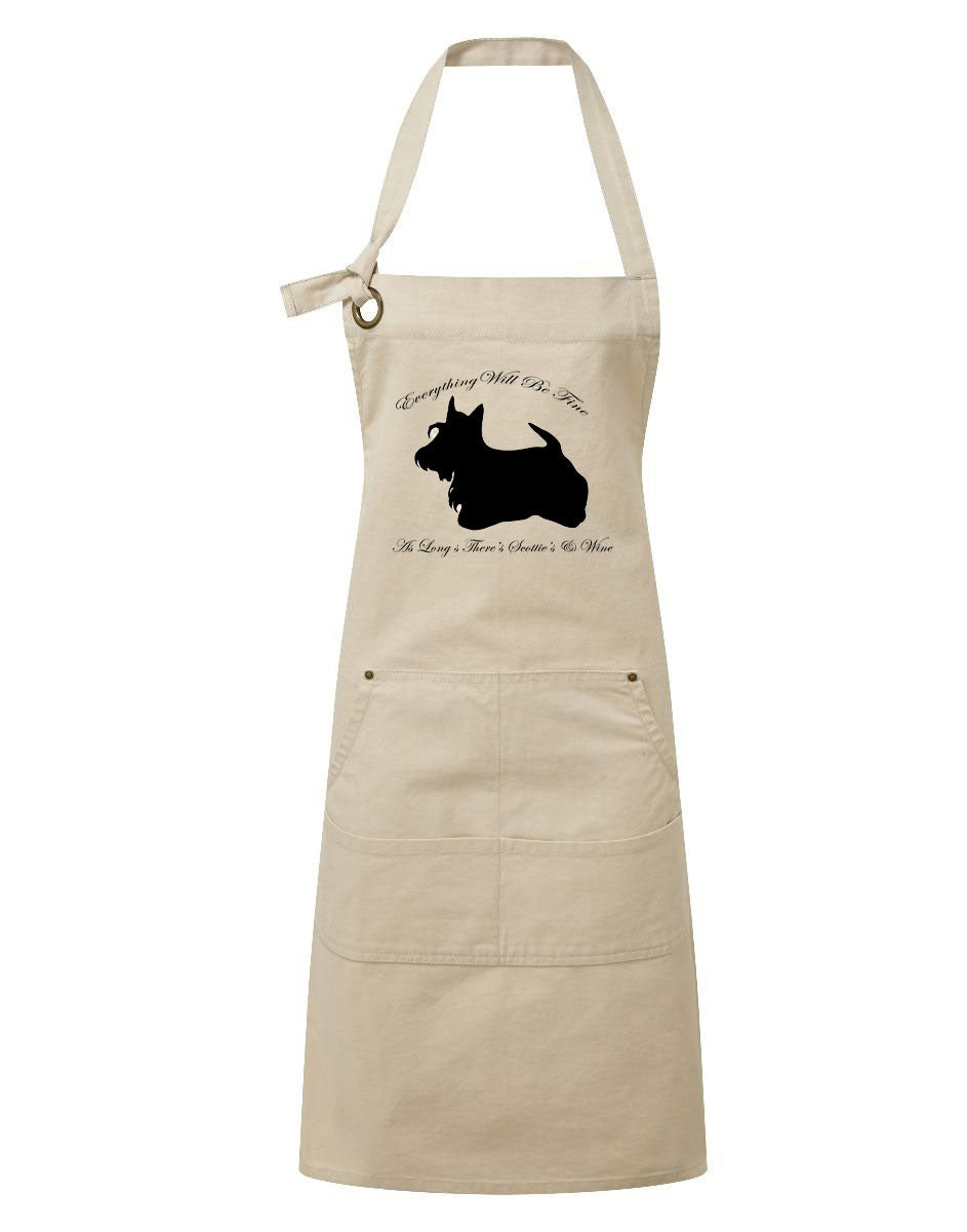 Limited Edition Scottish Terrier Heavy Cotton Pocket Apron