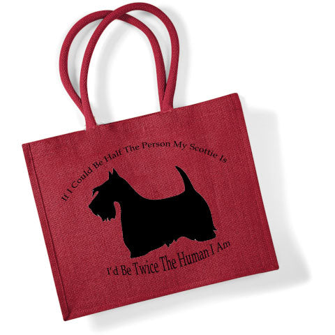 Limited Edition Scottish Terrier Jute Shopper
