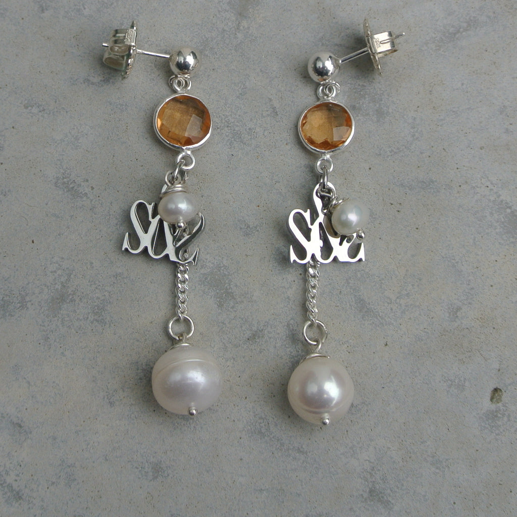 """Ball & Chain III"" Earring"