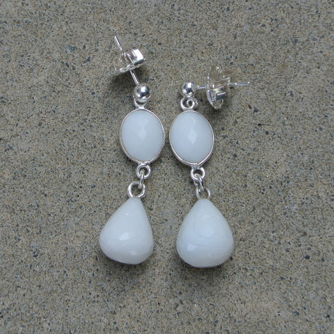 """Amore Blanc"" Earrings"
