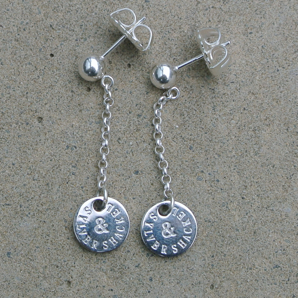 "Classic ""S&S"" Charm Earrings- Round"