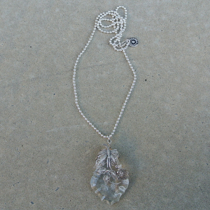 """Filigree Pear"" necklace"