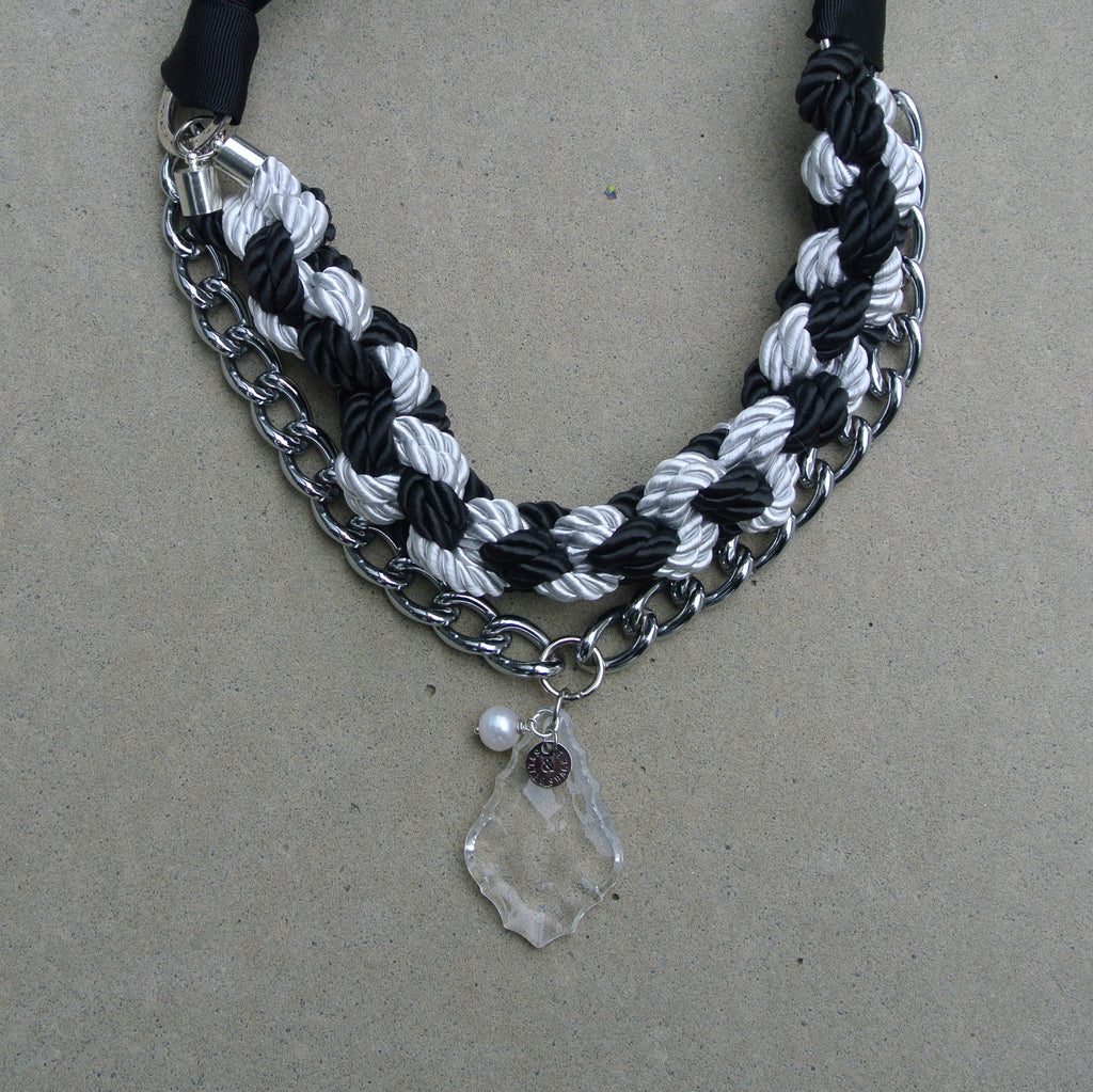 """Harlequin"" Necklace with drop"