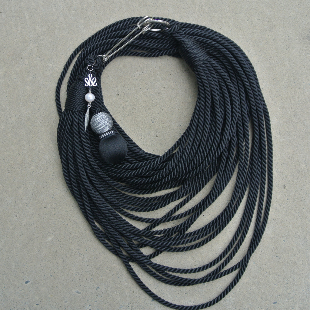 """Masai Rope"" necklace- Black"