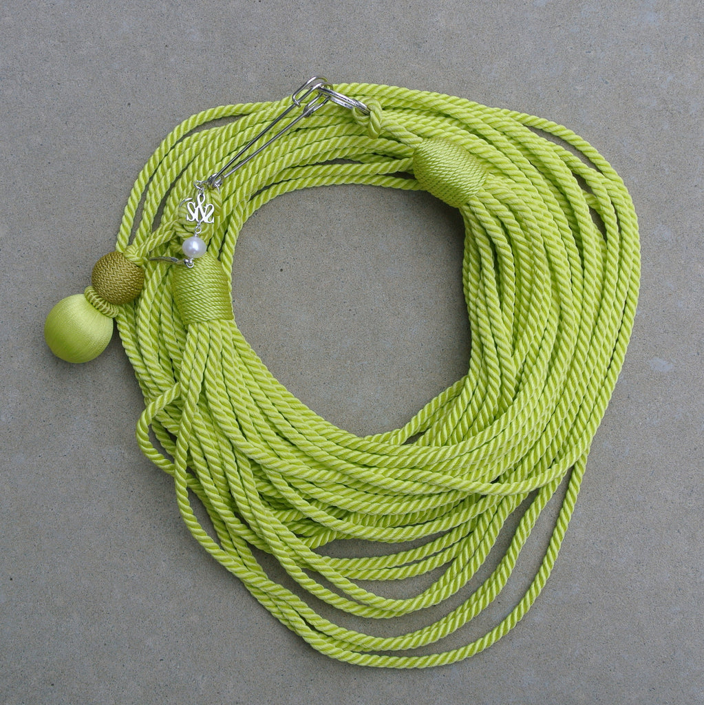 """Masai Rope"" necklace- Green"