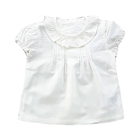 Blouse, Cream Frill
