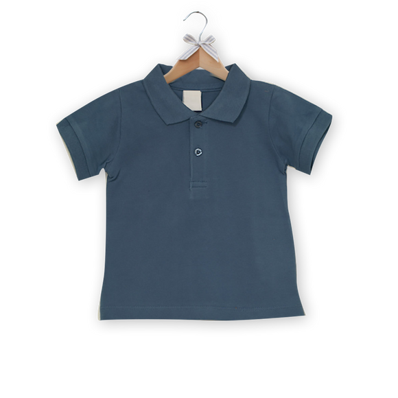 Polo Shirt, Smoke Blue