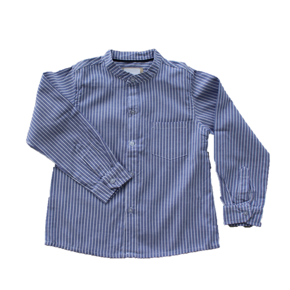 Linen Shirt, Blue Stripe